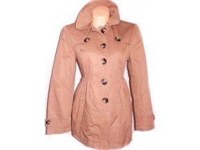 Bavlněný dámský hnědý kabát L