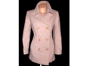 Vlněný (80%) dámský béžový kabát XL