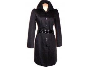 Bavlněný dámský černý kabát s páskem OASIS 12/38