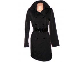 Dámský černý dlouhý kabát s páskem F&F L