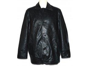 KOŽENÁ pánská černá měkká zateplená bunda MONTANA L