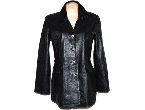 KOŽENÝ dámský černý měkký kabát VIVID L/XL