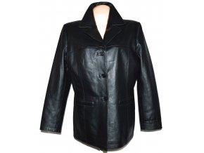 KOŽENÉ dámské černé měkké sako CERO XXL