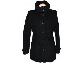 Vlněný dámský černý kabát s páskem ESPRIT XL