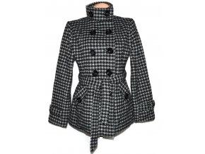 Dámský šedočerný kabát s páskem Creator L