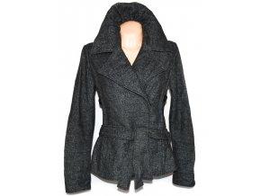 Vlněný dámský kabát s páskem Lifeline L