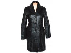 KOŽENÝ dámský černý měkký kabát Max&Mary