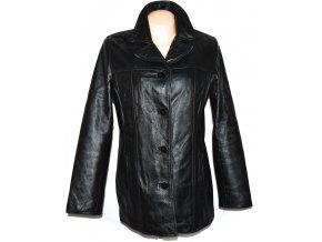 KOŽENÝ dámský černý měkký kabát C&A 16/42