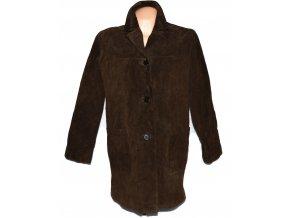 KOŽENÝ dámský hnědý broušený kabát HUDSON
