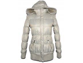 Dámský béžový šusťákový kabát s kapucí S
