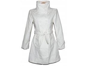 Dámský bílý kabát s páskem L