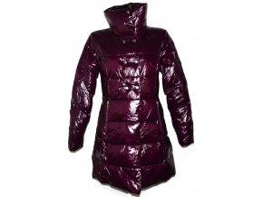 Dámský šusťákový prošívaný fialový kabát Fishbone L