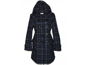 Vlněný dámský modrý kabát s kapucí C&A - YESSICA XXL