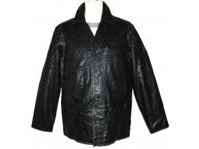 KOŽENÁ pánská černá zateplená bunda Ironsides M
