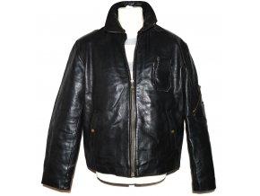 KOŽENÁ pánská černá bunda na zip Cuir Veritable XL