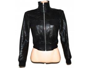 KOŽENÁ dámská černá měkká bunda na zip Pulse S