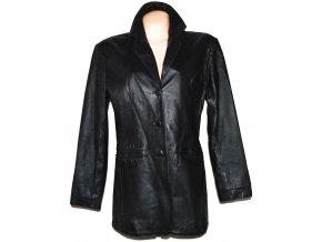 KOŽENÝ dámský černý měkký kabát PARIS XL