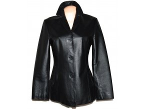 KOŽENÝ dámský černý měkký kabát CALIBER M
