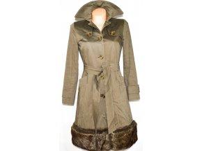Bavlněný dámský zelený kabát Helene Berman London S