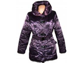 Dámský fialový šusťákový kabát s páskem David Barry L