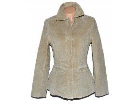 KOŽENÁ dámská broušená béžová bunda PAPAYA L
