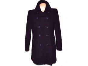 Vlněný (80%) dámský fialový kabát BHS 16/44