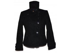 Vlněný (80%) dámský černý kabát NEXT L