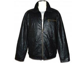 KOŽENÁ pánská černá měkká zateplená bunda Lakeland L