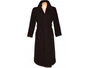 Vlněný dámský dlouhý hnědý kabát s páskem Marks&Spencer XL