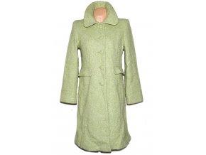 Vlněný dámský dlouhý zelený kabát AMARANTO L