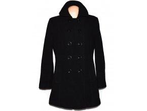 Vlněný (80%) dámský černý kabát BHS 16/44