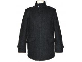 Vlněný pánský šedý kabát na zip F&F M
