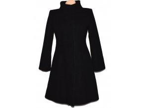Vlněný dámský černý kabát L