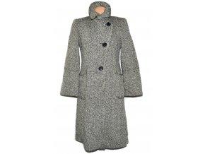 Vlněný dámský černobílý kabát OASIS L