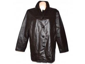 KOŽENÝ dámský hnědý měkký kabát XXXL