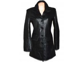 KOŽENÝ dámský černý měkký kabát KKM L