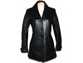 KOŽENÝ dámský černý měkký kabát MILAN LEATHER S
