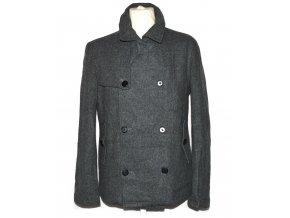 Vlněný pánský šedý kabát TOPMAN M