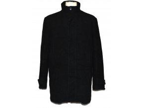 Vlněný pánský černý kabát na zip Cedarwood State L
