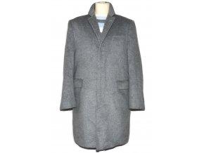 Vlněný pánský šedý kabát Collezione (vlna, kašmír) L