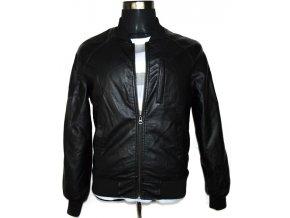 Pánská černá bunda na zip S