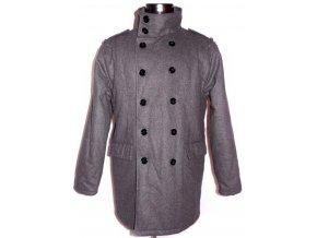 Vlněný pánský šedý zateplený kabát URBAN M