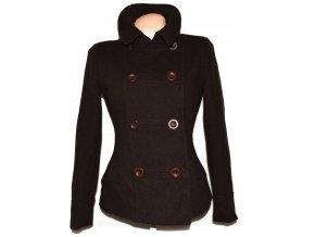 Vlněný (75%) dámský hnědý kabát J.Taylor M