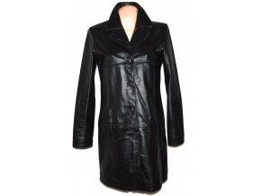 KOŽENÝ dámský černý měkký kabát DIFFERENT L