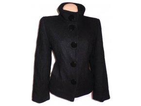 Vlněný dámský černý kabát PAPAYA S, L, XL