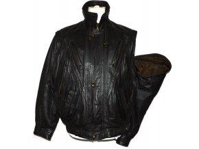 KOŽENÁ pánská hnědá měkká bunda na zip Smooth L
