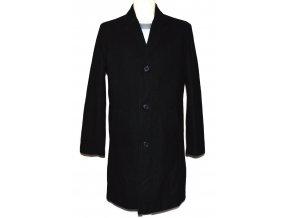 Vlněný pánský černý kabát Moss M