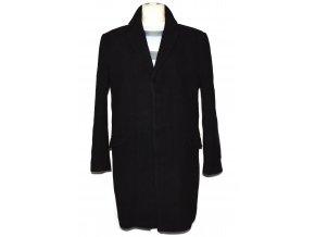 Vlněný pánský černý kabát Urban Spirit L