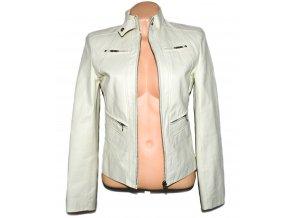 KOŽENÁ dámská měkká bílá bunda XS/S