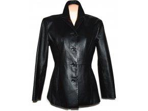 KOŽENÉ dámské černé měkké sako Calypso L